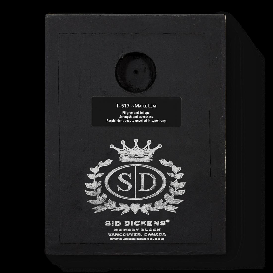 T517 - Maple Leaf - Memory Block Sid Dickens