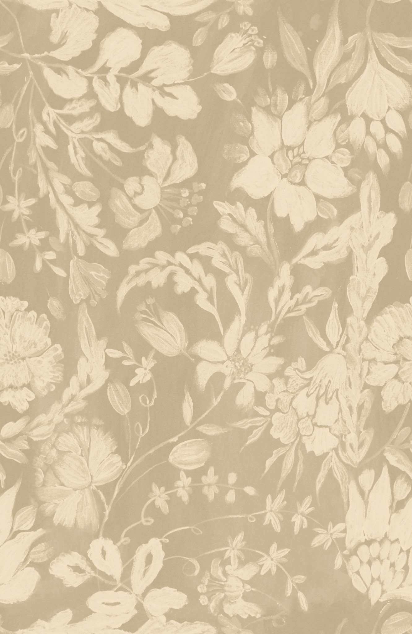 Tapete FLOWERY ORNAMENT Taupe