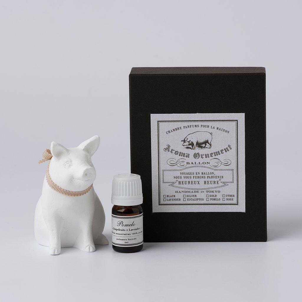 Aroma Ornament Schwein mit Pomelo