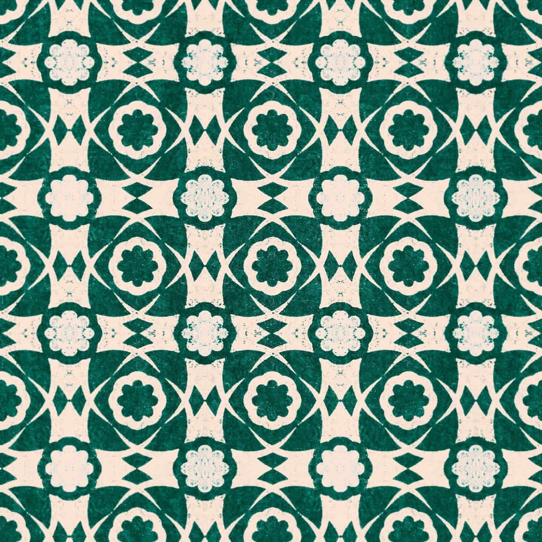 Tapete AEGEAN TILES Ultramarine Green