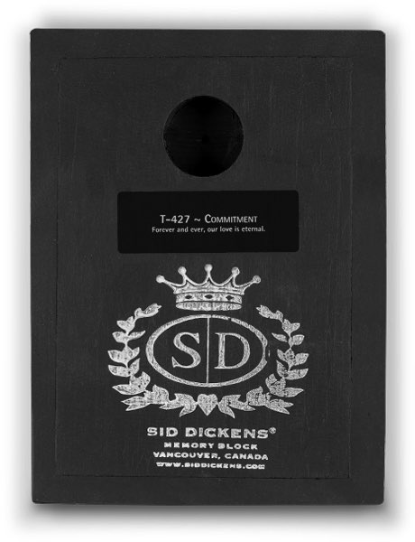 T427 - Commitment *retired* - Memory Block Sid Dickens