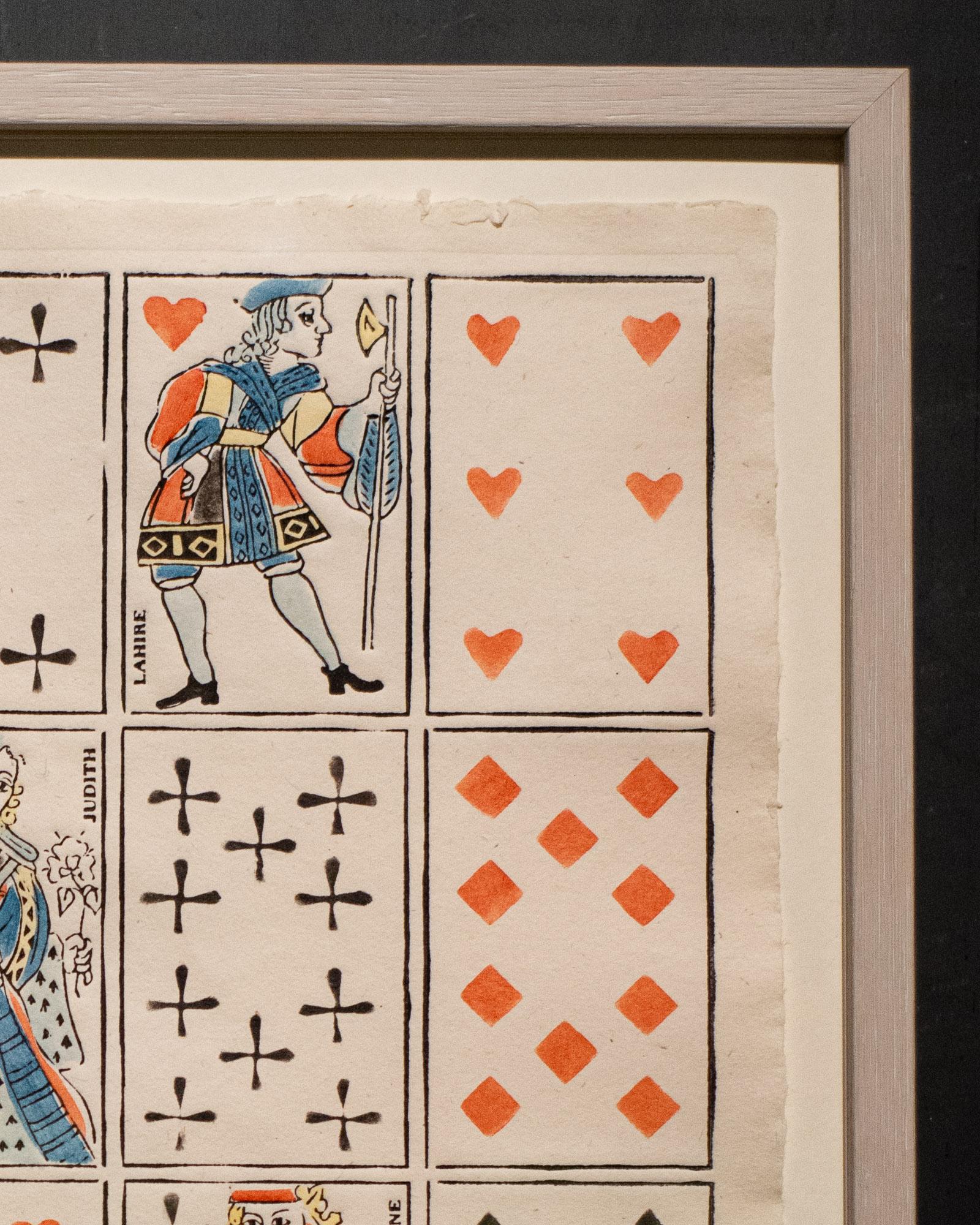 Domino Wandbild CARTES À JOUER / Kartenspiel